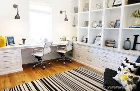 long desk for 2 built in desk for 2 contemporary den library office utah