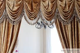Curtains Seattle Gold Velvet Pleated Austrian Style Swag Valance Curtains