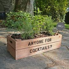 Personalised Crate Cocktail Herb Seed Kit By Plantabox