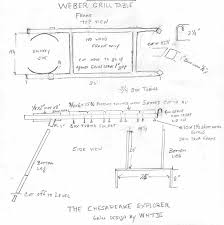 diy grill table plans diy weber grill table plans table designs