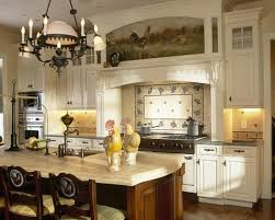 rustic french country kitchen ideas with wooden beam ceiling and