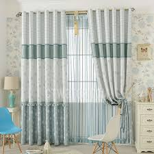 Grey And Blue Curtains Festival Snow Flake And Star Patterns Bedroom Curtains In Grey