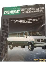 chevy gmc full size vans 1987 90 repair manual chilton u0027s total