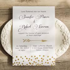 polka dot wedding invitations cupid s arrow polka dot foil pressed wedding invitations ewfi002