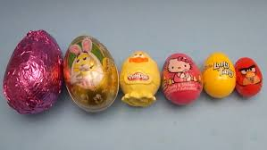 easter eggs filled with toys eggs learn sizes from smallest to opening eggs