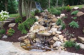 Water Features Backyard by Garden Waterfalls Backyard Water Features Installed In Pittsburgh Pa