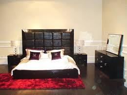 modern bedroom set glam black black modern bedroom set w etched crocodile patterns