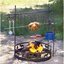 decor outdoor fire pit accessories with cooking grate and grill