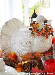thanksgiving turkey centerpiece a fall thanksgiving table setting and tablescape with a turkey