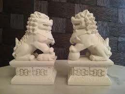 foo lion statue temple lion statue pair guardian lions fu fog foo dog