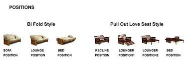 size futon size futon measurements bm furnititure