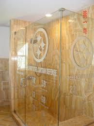 etched glass shower door designs carved glass shower doors in fl