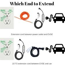 might d light charger safely use extension cords when charging an electric car or electric