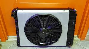 electric radiator fans and shrouds two chevy custom high efficiency copper brass radiators with