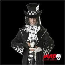 Mad Hatter Halloween Costume Men Dark Mad Hatter Costume Mens Evil Alice Halloween Fancy Dress
