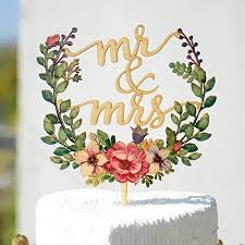 mr and mrs wedding cake toppers floral wreath style wedding cake topper mr mrs