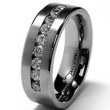 Mens Gunmetal Wedding Rings by Marvelous Titanium Mens Wedding Bands With Black Diamonds More