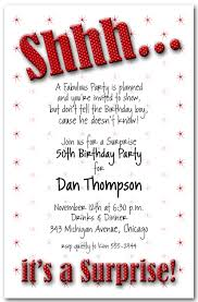 shhh red polka dot surprise birthday party invitations surprise