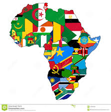 Africa Map Countries by Map Of Africa Flags Deboomfotografie