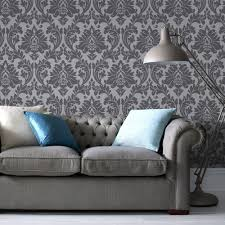 Wallpaper Removable Graham U0026 Brown Majestic Grey Removable Wallpaper 30 437 The Home