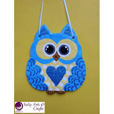 Nursery Owl Decor Decor Owl Wall Hanging Owl Wall Decor Blue Owl Decor Blue