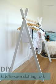 diy kids teepee clothing rackhanging clothes rack wall mounted