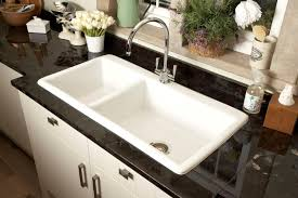 Double Kitchen Sink Black Porcelain Double Kitchen Sink Sink And Faucets Home Cheap