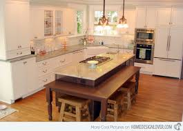 kitchen islands with tables attached 15 beautiful kitchen island with table attached home design lover