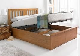 bedroom wooden king size bed frame rustic platform bed frame