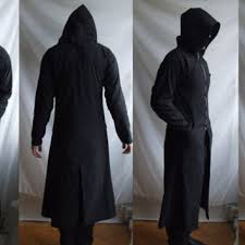 reaper hoodie long robe trenchcoat with from rolandmode on etsy