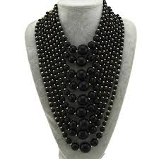 big statement necklace images Mb charm multilayers beads statement necklaces for women fashion jpg