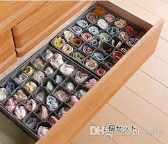 underwear organizer durable 30 cell wardrobe bra underwear organizer storage box bamboo