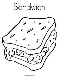 sandwich coloring page twisty noodle