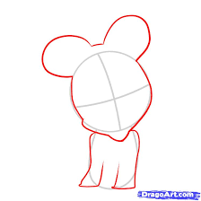 draw baby minnie mouse step step disney characters