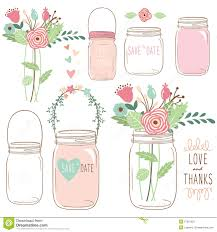 wedding flowers drawing draw wedding flower jar stock vector image 57316023