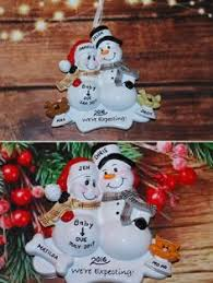 personalized ornament snowman with pet