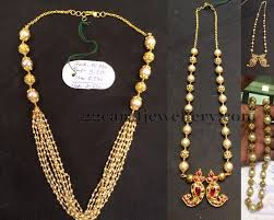 long pearl beaded necklace images Light weight pearls beads jewelry jewellery designs jpg
