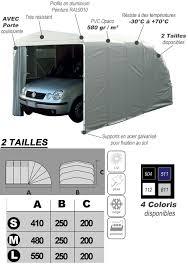 auto box abri autobox eco garage avec porte pour protection de voitures