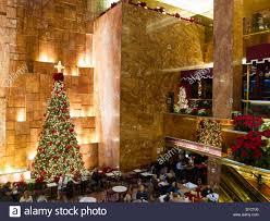 Holiday Decorations Public Space Atrium With Holiday Decorations Trump Tower Nyc