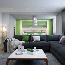 modern green accent walls in living room carameloffers