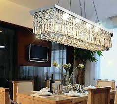 Rectangular Chandeliers Dining Room Rectangular Chandelier Pinkfolio