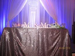 Pipe And Drape Rental Seattle Our Sweetheart Table Dressed In Silver Sequins New Inventory