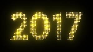 led new years 2017 new year s text simulating led lights with glowing effect