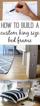 Closet Bed Frame How To Build A Custom King Size Bed Frame The Thinking Closet