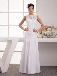 lace top wedding dress sleeveless bateau neckline chiffon wedding dress with lace top