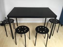 Marius Stool Ikea by Tarendo Table And Marius Stools 4 Ikea In Winchester