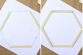 template diy popsicle stick hexagon shelf easy diy wall