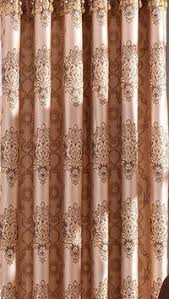 Yellow Brown Curtains Yellow Brown Curtain European Style Gold Embossed Jacquard Pleated