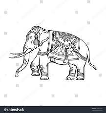 vector sketch cartoon indian decorated oriental stock vector