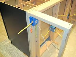 how to install a kitchen island installing electrical outlet in kitchen island awesome electrical